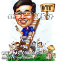 2013-07-23-caricature-DTT-rice-paddies-scarecrow-blue-shirt-glasses-ladder