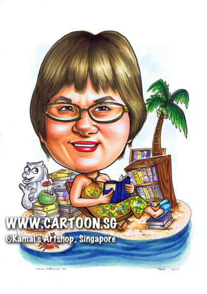 2013-07-23-caricature-librarian-island-coconut-tree-crab-merlion