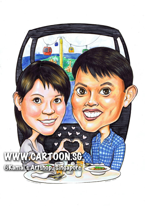 2013-07-29-Caricature-cable-car-hearts-food-checkered-blue-shirt.jpg