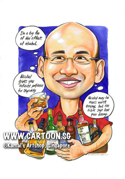 2013-07-30-caricature-bottles-whiskeys-red-shirt-bible-quote