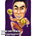 singapore caricature cartoon art drawing fun picture image sketch colour muai thai muay boxing gloves glove purple fighters man macho strong healthy fit six pack muscles muscular