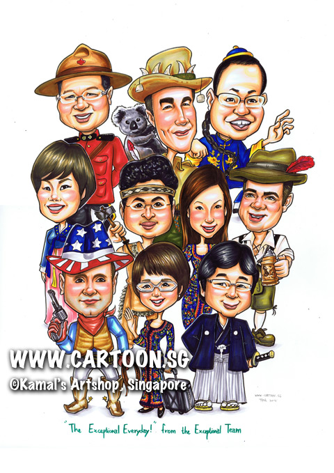 2013-07-03-caricature-group-farewell-boss-caricature-colleagues-friends-japan-cowboy-america-indiana-axe.jpg
