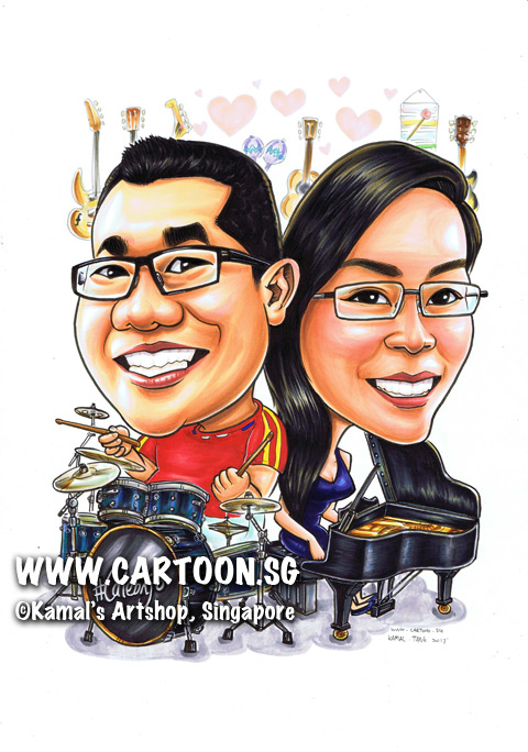 2013-09-03-Acoustic-Guitars-Electric-Guitar-Hearts-Drumset-musical-Instruments-Grand-Piano-Drum-Stick-Couple-Caricature.jpg