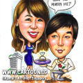 singapore caricature cartoon art drawing fun product management chart black dress coffee cup high heels shoes boxes pamphlets smiling bogl team happy grinning grin company partners group office white shirt blue ang moh asian blue eyes red tie reading read drinks water employees employers paper sheet lady men