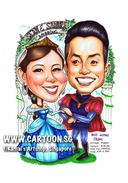 2013-10-14-caricature-singapore-prince-princess-wedding-love-tiara-sweet-lovely-gift