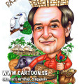 2013-11-25-caricature-singapore-raja-bambu-bamboo-green-house-bali-indonesia-sarong-bali-black-pig