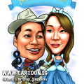 2014-01-07-caricature-singapore-couple-digital-cirrus-cloud-sky-hospital-bed-riding-lone-ranger-cinderella-princess-disney-gun-boots-mask-hat-cowboy