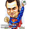 2014-02-28-caricature-singapore-funny-superhero-superman-beerbelly-chest-hair-satay-fan-mbs-taj-mahal-india-flying-starbuck-coffee