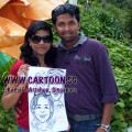 2011-03-04-Caricature-artist-in-Sentosa-live-drawing-couple