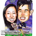 2014-03-10-Singapore-caricature-love-couple-tricycle-pink-balloons-fireworks-national-day-funny