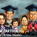 2014-05-12-Caricature-Singapore-cartoon-digital-family-group-graduation-father-mother-daughter-love-convo