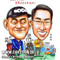 2014-05-21-Caricature-Singapore-gift-China-partner-golf-cherish-merlion-marina-bay-sand-bag-clap