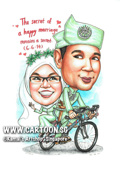 2014-05-29-Wedding-Anniversary-Cycling-Bicycle-Couple-Veil-Headscarf-Brooch-Keris-Tanjak-Spectacle