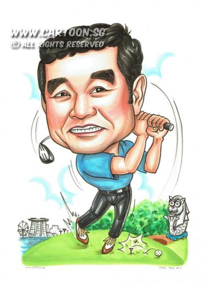 2014-06-26-Golf-Singapore-Skyline-Marina-Bay-Sands-Scenery-Merlion-Golf-Club