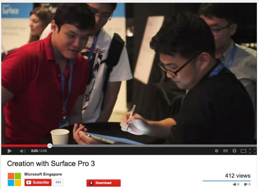 The first to draw digital caricatures on the Microsoft Surface Pro 3