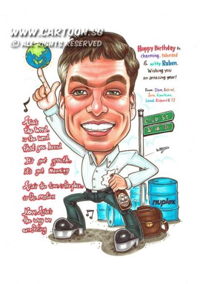 2014-08-25-Caricature-Singapore-Superstar-Rock-beer-asia-globe-club-st-dance-grease-briefcase-bag-nuplex-drum-Plane