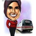 2014-10-15-Caricature-Digital-single-SMRT-Singapore-train