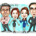2014-11-18-Team-Award-Caricature-Suits-Dress-High-Heels-Happy-Faces