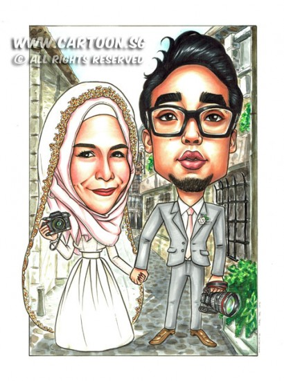 2014-11-4-Caricature-Singapore-Kamal-Artshop-Heed-Marry-wedding-malay-italy-street-canon-olympus-camera-dslr-vein-pretty-happy-love