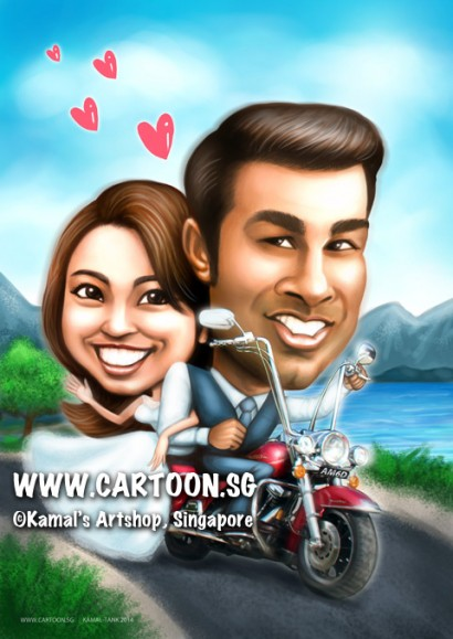 2014-12-1-Caricature-digital-premium-bike-wedding-sea-love-sweet