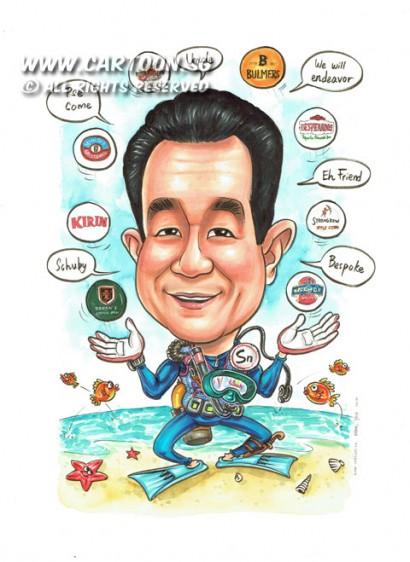 2014-12-15-Quotes-Branded-Balls-Ocean-Fishes-Scuba-Suits-Anchor-Baron's-Bulmers-Desperados-Erdinger-Kirin-SOL-Strongbow