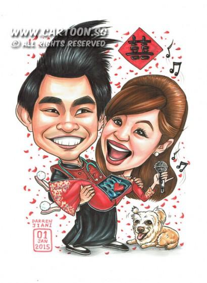 2014-12-26-Wedding-Couple-Happy-Microphone-Stethoscope-X-Ray-Dog