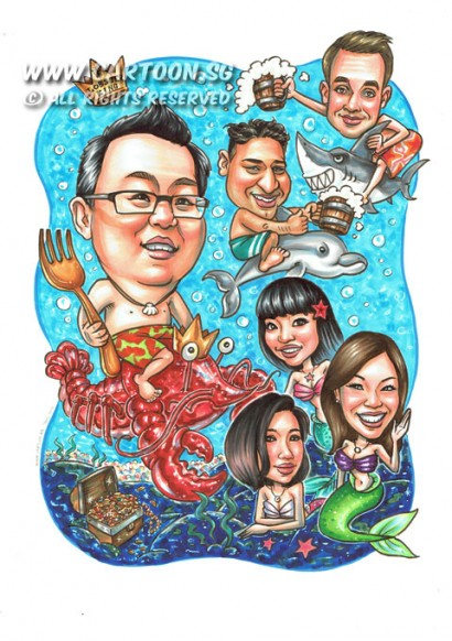 2015-02-05-Seafood-Theme-Lobster-King-Fork-Sea--Fork-Beer-Mermaid-Dolphin-Team