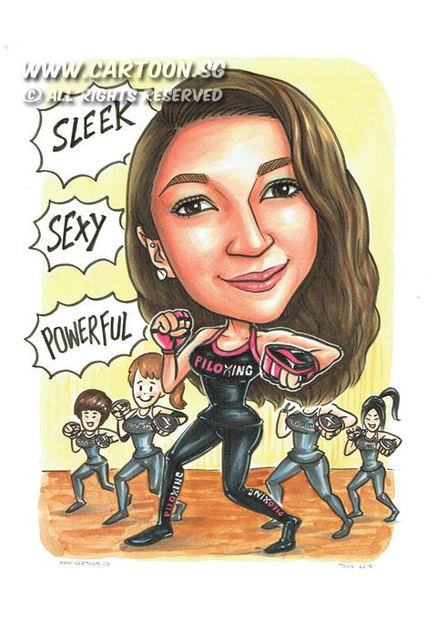 2015-01-07-Caricature-Singapore-gift-birthday-sleep-sexy-powerful-hot-fitness-pretty-gym-piloxin-girls.jpg