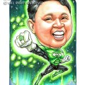 2015-01-22-Caricature-Singapore-boss-gift-superhero-green-lattern-fight-glow-power-space-cool-wow
