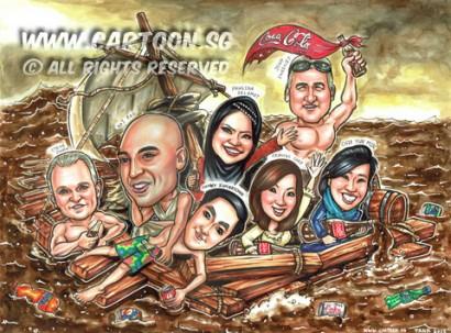 2015-01-28-Caricature-Group-Funnt-theme-wreck-of-merdusa-coca-cola-coke-ocean-ship-woods-enjoy-painting