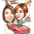 2015-02-05-Red-Convertible-Alfa--Romeo-Car-Happy-Birthday-21st-Birthday-Cake-Kpop-Star-Jessica-Rugby