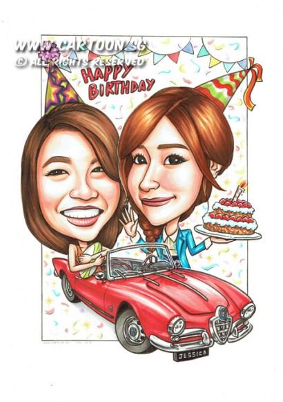 2015-02-05-Red-Convertible-Alfa--Romeo-Car-Happy-Birthday-21st-Birthday-Cake-Kpop-Star-Jessica-Rugby