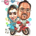 2015-02-12-Caricature-Singapore-motorbike-love-wedding-balloons