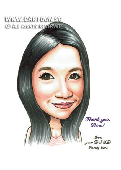 2015-03-18-Caricature-Singapore-Mugshot-pretty-girl-toyota-colleague