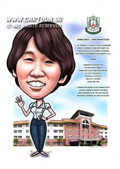 2015-03-20-Caricature-digital-gift-girl-st-stephen-school-rally-singapore
