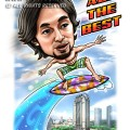 2015-03-24-Caricature-Digital-Singapore-Farewell-gift-parkview-building-surfboard