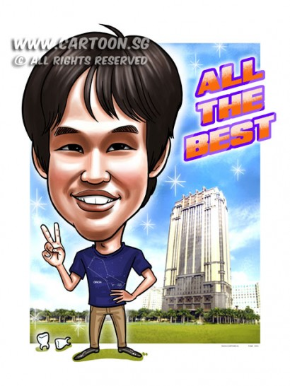 2015-03-24-Caricature-Digital-Singapore-Farewell-gift-parkview-building-teeths-orion