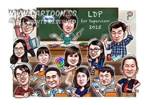 2015-03-26-Caricature-Singapore-Digital-Group-leadership-roche-classroom-play-fun-happy-lollipop-candy-sweet-books-blackboard.jpg
