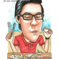 2015-04-09-Singapore-Caricature-Food-Chopstick-Spectacle-Favourite-Dish-Slurp-Watch-Food-Festival