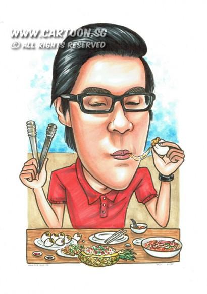2015-04-09-Singapore-Caricature-Food-Chopstick-Spectacle-Favourite-Dish-Slurp-Watch-Food-Festival