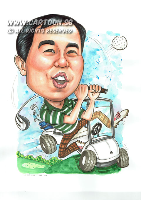 2015-05-13-Singapore-Caricature-Golf-Buggy-Field-Happy.jpg