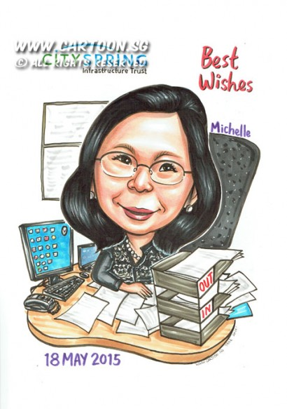 2015-05-15-Singapore-Caricature-Farewell-Office-Desk-Spectacle-Boss-Gift-Computer-Papers-Tray