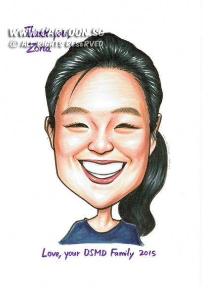 2015-06-09-Caricature-Singapore-gift-pretty-DSMD-happy-laugh-smile
