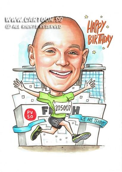 2015-06-09-Caricature-Singapore-run-PV-50-birthday-boss-gift-mbs