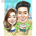 2015-06-11-Caricature-Singapore-Couple-love-sweet-squash-rackets-joy-fun-love-lego