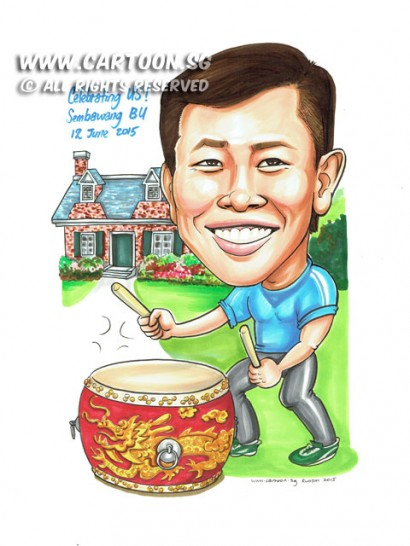 2015-06-12-Caricature-Singapore-drum-play-house