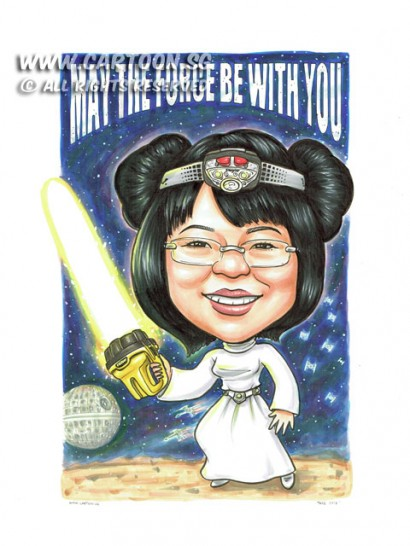 2015-06-22-Caricature-Singapore-Starwar-princess-leia-light-saber-eveready-death-star-funny-space-ship