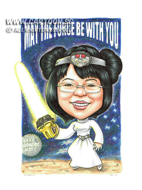 2015-06-22-Caricature-Singapore-Starwar-princess-leia-light-saber-eveready-death-star-funny-space-ship.jpg