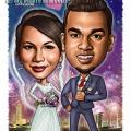 2015-06-22-Caricature-Singapore-digital-love-flower-fireworks-night-romantic-siva-wedding
