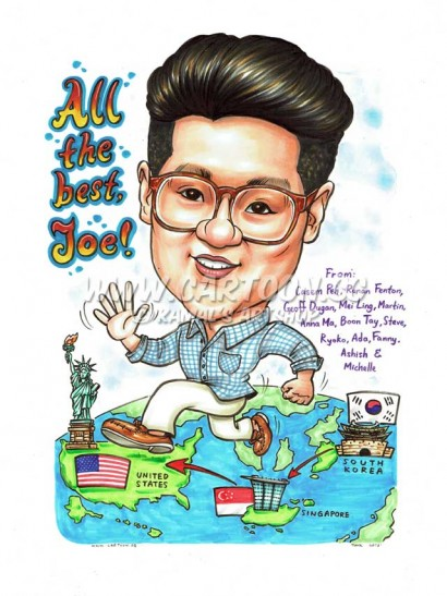 Farewell Caricature Gift for Colleague